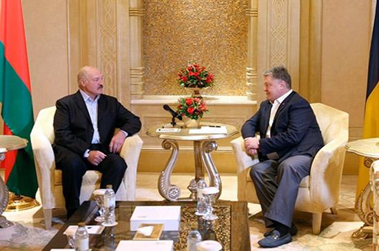 Лукашенко обвинил Порошенко в нарушении договорённости по делу о шпионаже