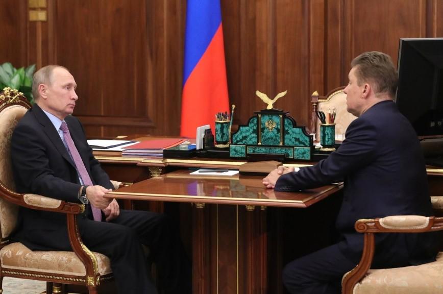 Миллер оповестил Путину опланах «Газпрома» до 2019-ого
