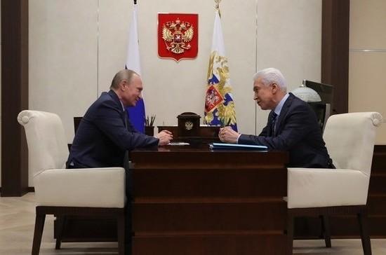 Васильев доложил Путину о росте доходов жителей Дагестана на 3,2% в 2017 году