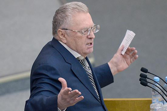 Жириновский призвал остановить войны и революции для борьбы с наркотиками