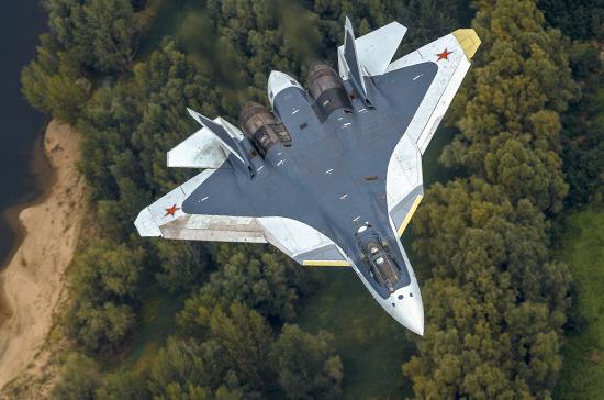 Су-57 совершил 1-ый полет сновым агрегатом вЖуковском