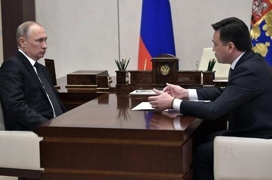Воробьёв пообещал Путину рекультивировать мусорный полигон «Кучино» за год
