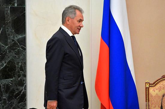 Шойгу поблагодарил военных, обеспечивших безопасность Путина в Сирии