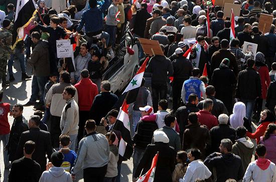 В Сирии прошёл митинг против признания Иерусалима столицей Израиля
