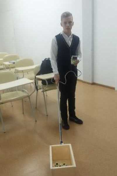 Красноярский школьник создал электронного робота-поводыря для слабовидящих людей