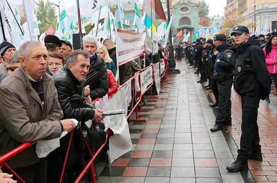 На Украине в акциях протеста участвовали 28 миллионов человек в 2017 году