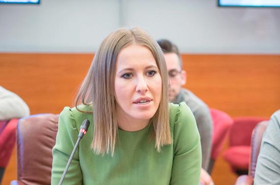 Собчак открыла предвыборный штаб в Москве