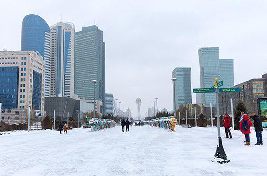 Снежный буран накрыл Астану и другие районы Казахстана