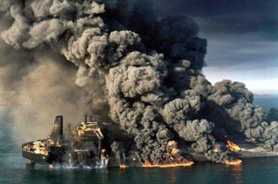 У берегов Китая затонул иранский танкер