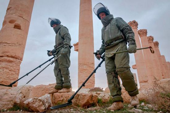 Военные Сирии во время разминирования обнаружили византийскую мозаику