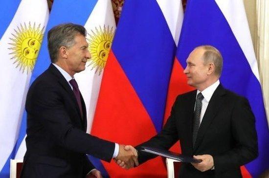 Путин рассказал, как прошли переговоры с аргентинским президентом