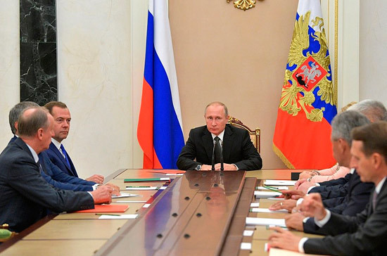 Путин провёл совещание с неизменными членами Совбеза