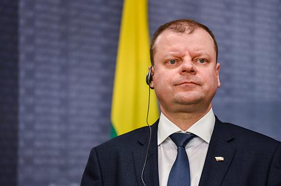 Литовский премьер призвал сейм узаконить однополое партнёрство