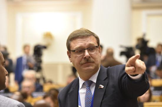 Косачев назвал закон о реинтеграции Донбасса нарушением Минских соглашений