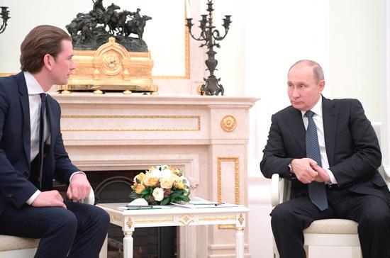 Путин отметил значительный рост товарооборота между Россией и Австрией