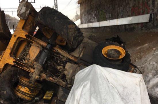 В Москве начали проверку по поводу наезда  электрички на трактор около платформы «Маленковская»