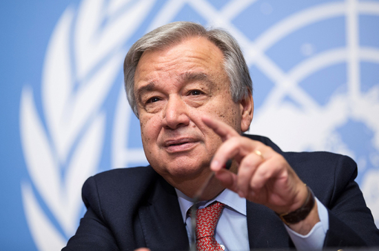 Генеральный секретарь ООН поздравил В. Путина спобедой навыборах