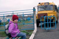 Бесплатный автобус довезёт учеников в соседний посёлок