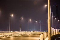 На Крымском мосту протестировали освещение автодороги