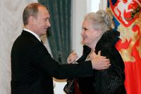 Путин поздравил Быстрицкую с днем рождения