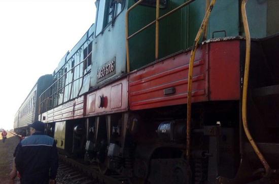 В Крыму столкнулись электропоезд «Армянск — Керчь» и микроавтобус