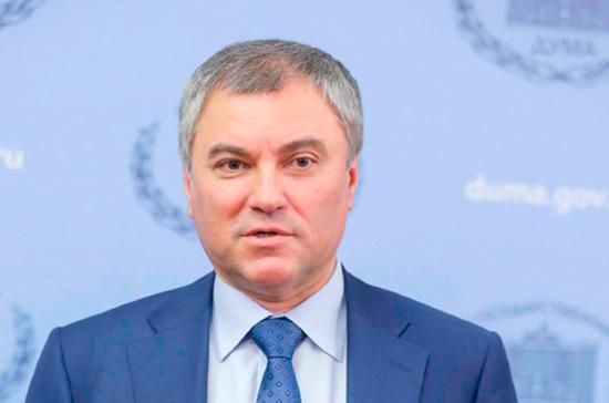 Володин обратится к Правительству от «Единой России»
