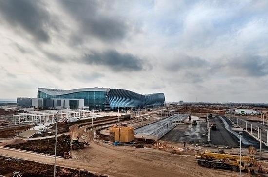 Вначале рабочей недели утром новый терминал аэропорта Симферополя принял 1-ый рейс