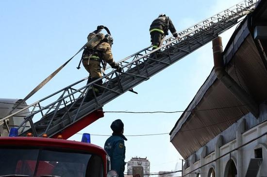 Стала известна предварительная причина пожара нарынке вНальчике