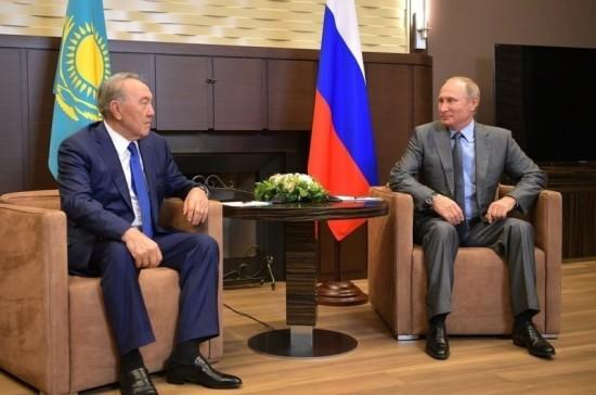 Путин и Назарбаев осудили атаку на Сирию