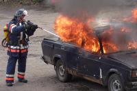 В столице на МКАД сгорели девять машин