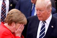 Меркель и Трамп обсудят «поведение России»