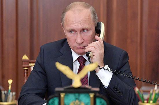 Путин провёл телефонный разговор с и.о. премьер-министра Армении