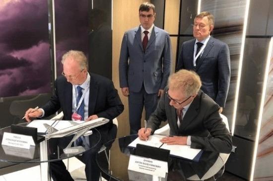 «Сухой» заключил соглашение напоставки новейшей версии SSJ-100 вИран