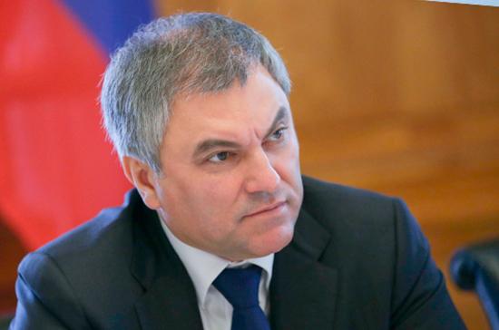 Володин предложил запустить программу целевого набора медперсонала