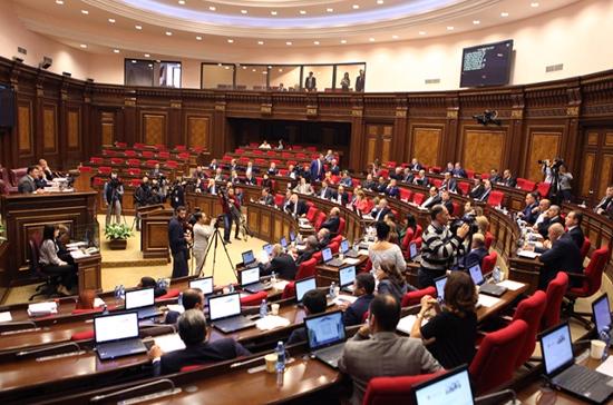 В Армении началось заседание парламента по избранию премьер-министра