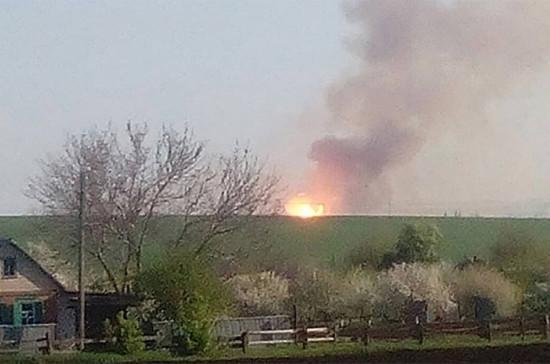 Пожар на военном складе под Харьковом охватил 35 гектаров