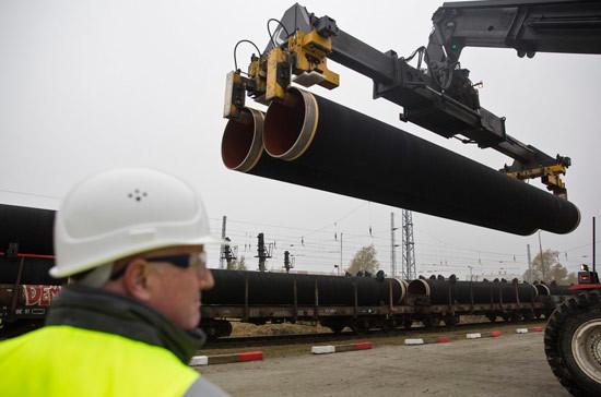 В Германии начались работы на стройплощадке под «Северный поток - 2»