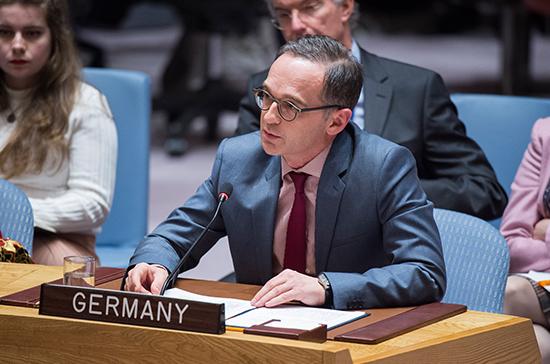 Глава немецкого МИД отметил вину Германии в холокосте