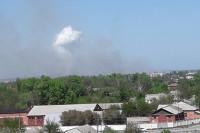 Под Харьковом эвакуируют жителей из-за пожара на складе боеприпасов