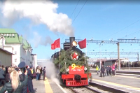 В честь Дня Победы в Хабаровск прибыл поезд времён ВОВ