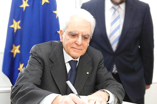 Президент Италии возобновляет консультации с делегациями «Движения 5 звёзд» и «Лиги»
