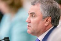 Володин не исключил консультаций с экспертами по закону о наказании за исполнение антироссийских санкций