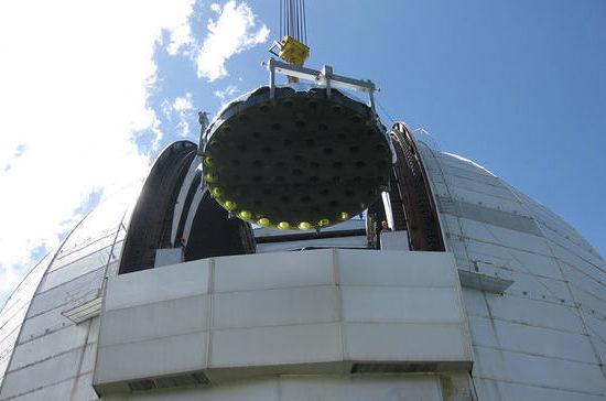 У крупнейшего телескопа России проводят замену зеркала весом более 40 т