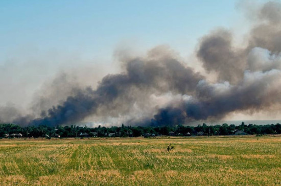 ВДонбассе наминном поле подорвались военные НАТО