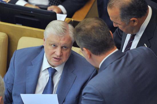 Сергей Миронов: кандидатом отСР напост главы города столицы будет Илья Свиридов