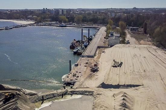 В Калиниградской области начали строить инженерные сети для международного морского терминала