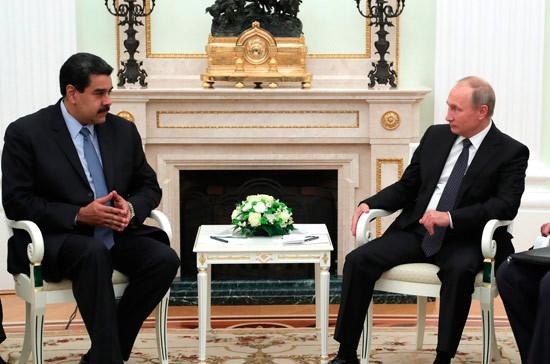 Мадуро поблагодарил Путина за признание итогов выборов в Венесуэле