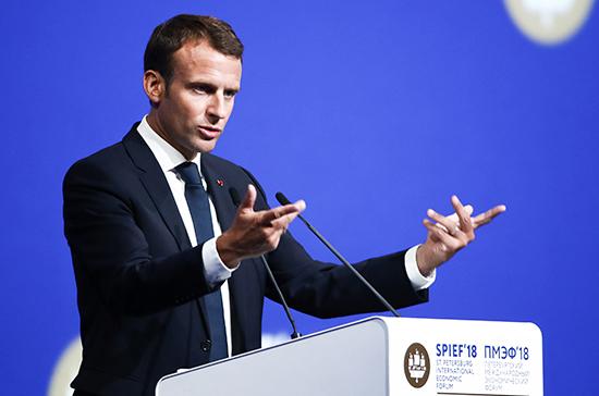 ЕС должен работать над проектом общеевропейской обороны, заявил Макрон