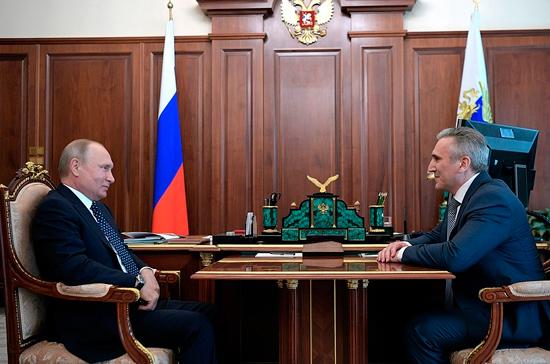 Путин назначил Александра Моора врио губернатора Тюменской области