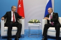 Путин обсудил с Эрдоганом ситуацию в Сирии